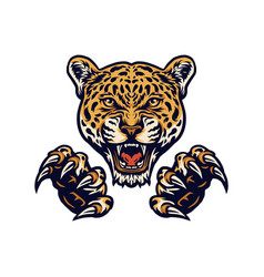 Jaguars and claws vector