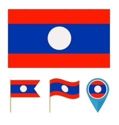 Laoscountry flag vector