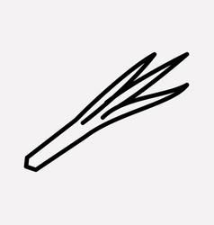 leek icon line element of vector image