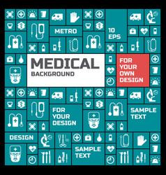 medical symbols background vector image