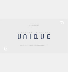 minimal font creative modern alphabet typography vector image