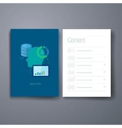 Modern database development flat icons cards vector image