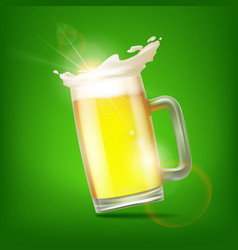 Mug with beer vector