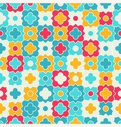Multicolor Quatrefoil Lattice Pattern seamless vector image