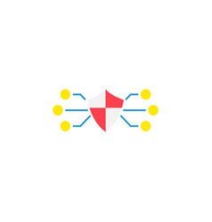 network protection flat icon vector image