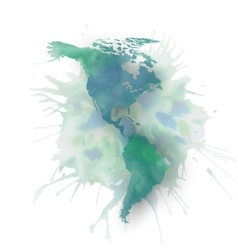 North and south America map element abstract hand vector