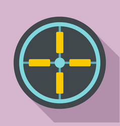 optical aim sight icon flat style vector image