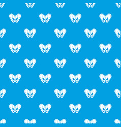 Pelvis pattern seamless blue vector