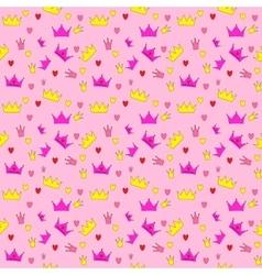 Princess Seamless Pattern Background vector