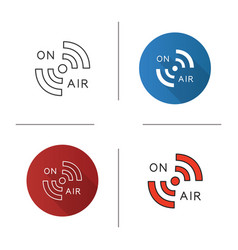 radio signal icon vector image