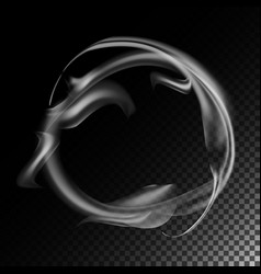 Realistic cigarette smoke waves 3d vector