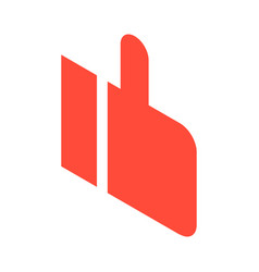 red thumb up icon isometric style vector image