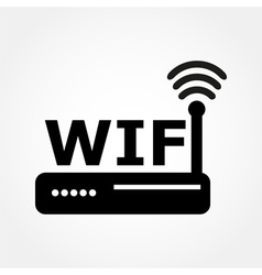 router and Wi fi icon vector image