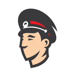 russian police head sign vector image