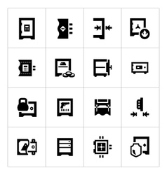 Set icons of safe vector image