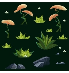 Set of different isolated elements vector image