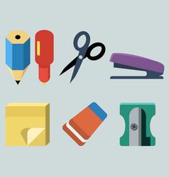 set stationery vector image