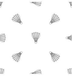 shuttlecock pattern seamless vector image