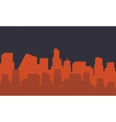 Silhouette of building city vector