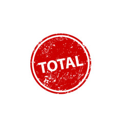 total stamp texture rubber cliche imprint web or vector image