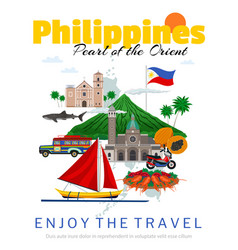 travel to philippines poster vector image