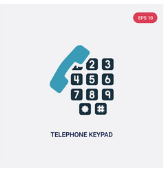 Two color telephone keypad icon from user vector