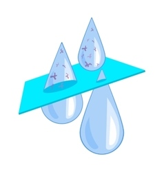 Water filtration icon in cartoon style isolated on vector