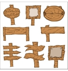 Wooden Signpos vector