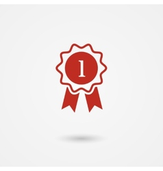 Badge With Ribbons vector image