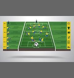 Brazilian soccer football player vector image