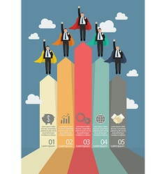 Business marketing infographic with businessmen vector image vector image