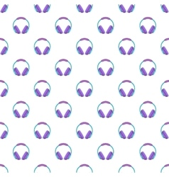 Headphones pattern cartoon style vector image