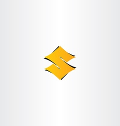 letter s gradient logotype icon vector image vector image