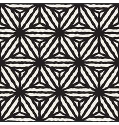 Seamless Geometric Star Stripes Pattern vector image