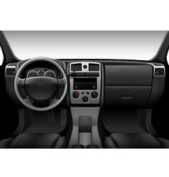 Truck interior - inside view of car dashboard vector image