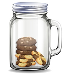 Cookies in the glass jar vector image vector image
