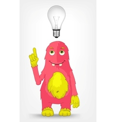 Funny Monster Idea vector image