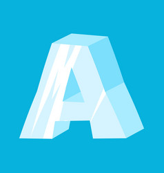 letter a ice font icicles alphabet freeze vector image vector image