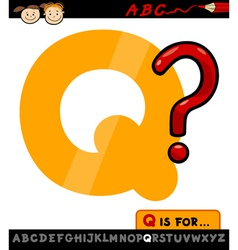 letter q with question mark vector image vector image