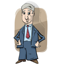 businessman caricature drawing vector image