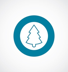 Christmas tree icon bold blue circle border vector image vector image