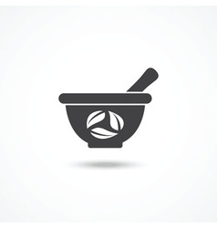 Mortar and pestle icon vector image vector image