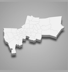 3d map bangkok is a province thailand vector image