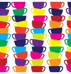 Abstract seamless background with cups vector image