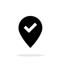 Accept map pin icon on white background vector
