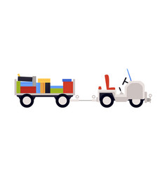 airport luggage truck or freight lorry with vector image