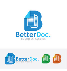 better document logo design vector image