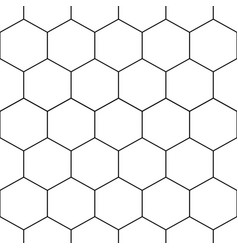 Black honeycomb hexagon seamless on white vector