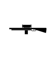 Black icon on white background military sniper vector