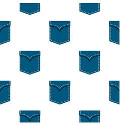 Blue pocket symbol pattern flat vector